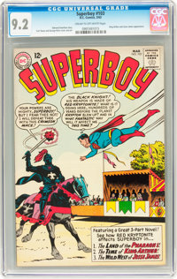 Superboy #103 (DC, 1963) CGC NM- 9.2 Cream to off-white pages