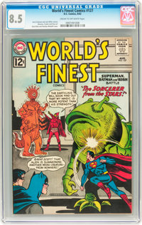 World's Finest Comics #127 (DC, 1962) CGC VF+ 8.5 Cream to off-white pages