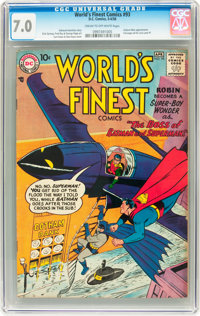World's Finest Comics #93 (DC, 1958) CGC FN/VF 7.0 Cream to off-white pages