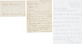 Autographs:Letters, 1912 Christy Mathewson Signed Letter & Autographs withExtraordinary Provenance....