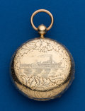Timepieces:Pocket (pre 1900) , T.F. Cooper, London, 18 k, Lever Fusee, Hunters Case. ...