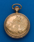 Timepieces:Pocket (post 1900), Elgin, 18 size, Gold Filled, Hunters Case. ...