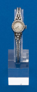 Timepieces:Wristwatch, Rolex, Ladies White Gold & Diamond Wristwatch. ...
