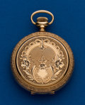 Timepieces:Pocket (post 1900), Elgin, 16 size, Fancy 14 k Hunters Case. ...