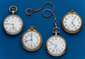 Timepieces:Pocket (post 1900), Four - American, 16 Size, Pocket Watches. ... (Total: 4 Items)