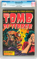 Golden Age (1938-1955):Horror, Tomb of Terror #15 (Harvey, 1954) CGC FN/VF 7.0 Cream to off-whitepages....