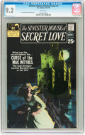 Bronze Age (1970-1979):Romance, Sinister House of Secret Love #1 (DC, 1971) CGC NM- 9.2 Whitepages....
