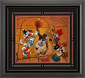 Basketball Collectibles:Photos, Patrick Ewing, Bugs Bunny, Daffy Duck and Friends Limited EditionSigned Hand Painted Cel #210/500 Original Art (Warner Bros.,...
