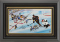 Hockey Collectibles:Others, Mario Lemieux, Bugs Bunny, Daffy Duck and Friends Limited Edition Signed Hand Painted Cel #HC1/20 Original Art (Warner Bros., ...