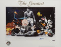 Boxing Collectibles:Autographs, Muhammad Ali, Bugs Bunny, Daffy Duck and Friends Limited EditionSigned Hand Painted Cel #732/750 Original Art (Wa...
