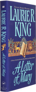 Books:Signed Editions, Laurie R. King. A Letter of Mary. New York: St. Martin's Press, 1997. First edition. Signed by the author on the t...