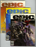 Magazines:Science-Fiction, Epic Illustrated Group (Marvel, 1980-85) Condition: Average NM+....(Total: 12 Comic Books)