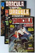 Magazines:Horror, Dracula Lives! Group (Marvel, 1973-75) Condition: Average VF/NM.... (Total: 5 Comic Books)