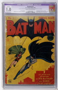 Batman #1 (DC, 1940) CGC Apparent FR 1.0 Moderate (A) Cream to off-white pages