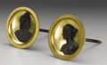 Decorative Arts, French:Other , A Pair of French Empire Gilt and Patinated Bronze Drapery Holders.Attributed to Pierre-Philippe Thomire (1751-1843), Pari... (Total:2 )