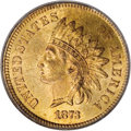 Indian Cents, 1873 1C Open 3 MS66 Red PCGS....