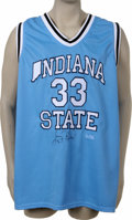 Basketball Collectibles:Others, Larry Bird Signed Indiana State University Jersey. Member of theBasketball Hall of Fame and widely considered one of the ...