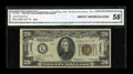 Small Size:World War II Emergency Notes, Fr. 2304 $20 1934 Hawaii Mule Federal Reserve Note. CGA About Uncirculated 58.. ...