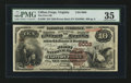National Bank Notes:Virginia, Clifton Forge, VA - $10 1882 Brown Back Fr. 490 The First NB Ch. #6008. ...