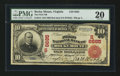 National Bank Notes:Virginia, Rocky Mount, VA - $10 1902 Red Seal Fr. 613 The First NB Ch. #(S)6685. ...