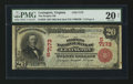 National Bank Notes:Virginia, Lexington, VA - $20 1902 Red Seal Fr. 639 The Peoples NB Ch. #(S)7173. ...