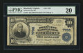 National Bank Notes:Virginia, Bluefield, VA - $10 1902 Plain Back Fr. 624 The Twin City NB Ch. #7782. ...