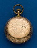 Timepieces:Pocket (pre 1900) , Hampden 18 Size Gold Filled Hunters Case. ...