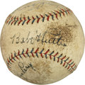 Autographs:Baseballs, Circa 1930 Babe Ruth Signed Baseball with Later Autographs....