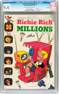 Richie Rich Millions #5 File Copy (Harvey, 1963) CGC NM 9.4 Cream to off-white pages