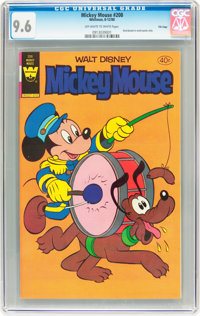 Mickey Mouse #208 File Copy (Whitman, 1980) CGC NM+ 9.6 Off-white to white pages