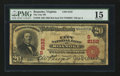 National Bank Notes:Virginia, Roanoke, VA - $20 1902 Red Seal Fr. 640 The City NB Ch. # (S)8152....