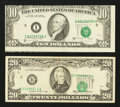 Error Notes:Error Group Lots, Fr. 2028-I $10 1988A Federal Reserve Note. VF. Fr. 2075-B $20 1985Federal Reserve Note. VF.. ... (Total: 2 notes)