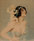 Pin-up and Glamour Art, ALBERTO VARGAS (American, 1896-1982). Ziegfeld Girl withAngel. Mixed media on board. 22.5 x 19.5 in.. Signed lowerrigh...