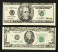 Error Notes:Error Group Lots, Fr. 2076-G $20 1988A Federal Reserve Note. Choice CU. Fr. 2083-E$20 1996 Federal Reserve Note. VF-XF.. ... (Total: 2 notes)