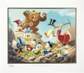 Original Comic Art:Miscellaneous, Carl Barks Trespassers Will Be Ventilated Gold Plate EditionLithograph #1/100 (Another Rainbow, 1987).... (Total: 2 Items)