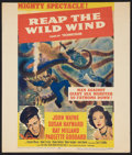 "Movie Posters:Adventure, Reap the Wild Wind (Paramount, R-1954). Window Card (14"" X 22"").Adventure.. ..."