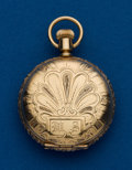 Timepieces:Pocket (post 1900), Waltham, 14k Gold, 0 Size Hunters Case. ...