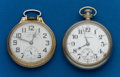 Timepieces:Pocket (post 1900), Two - Hamilton 21 Jewel Parts Watches, one 992, one 992B. ...(Total: 2 Items)