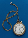 Timepieces:Pocket (post 1900), Hamilton 21 Jewel 992B With Chain. ...