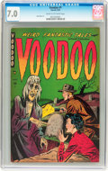 Golden Age (1938-1955):Horror, Voodoo #1 (Farrell, 1952) CGC FN/VF 7.0 Cream to off-whitepages....