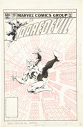 Original Comic Art:Covers, Frank Miller and Klaus Janson Daredevil #186 Cover Original Art (Marvel, 1982)....