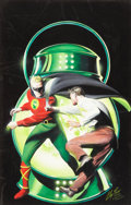 Original Comic Art:Covers, Alex Ross Overstreet Comic Book Price Guide #27 CoverFeaturing The Golden Age Green Lantern Original Art (199...