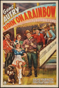 "Movie Posters:Western, Ridin' on a Rainbow (Republic, 1941). One Sheet (27"" X 41""). Western.. ..."