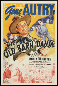 "The Old Barn Dance (Republic, 1938). One Sheet (27"" X 41""). Western"