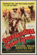 "Movie Posters:Western, Buffalo Bill Rides Again (Screen Guild Productions, 1947). One Sheet (27"" X 41""). Western.. ..."