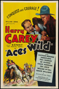 """Movie Posters:Western, Aces Wild (Commodore, 1936). One Sheet (27"""" X 41""""). Western.. ..."""
