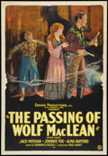 "Movie Posters:Western, The Passing of Wolf MacLean (Usla, 1924). One Sheet (27"" X 41""). Western.. ..."