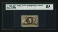 Fr. 1318 50¢ Second Issue PMG About Uncirculated 55