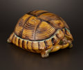 Ceramics & Porcelain, British:Antique  (Pre 1900), AN ENGLISH MAJOLICA TORTOISE CUSPIDOR . Attributed to George Jones & Sons, Stroke-on-Trent, Staffordshire, England, circa 18... (Total: 2 Items)
