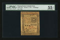 Colonial Notes:Pennsylvania, Pennsylvania October 1, 1773 15s PMG About Uncirculated 55 EPQ.....